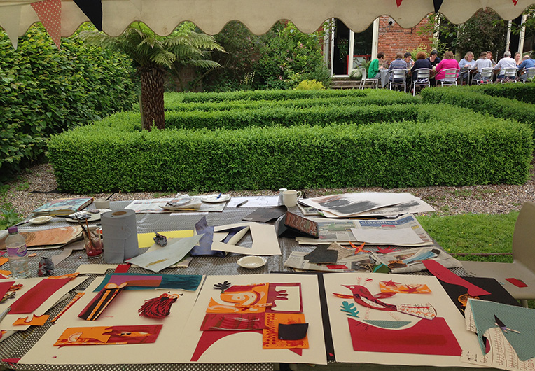 Mark Hearld's Collage Workshop at The Studio @ Burlingham Hall in June 2016
