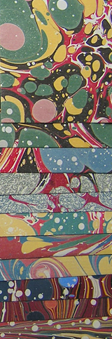 Marbled papers by Victoria Hall