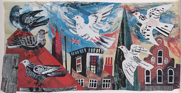 Mark Hearld Over the Rooftops 2009
